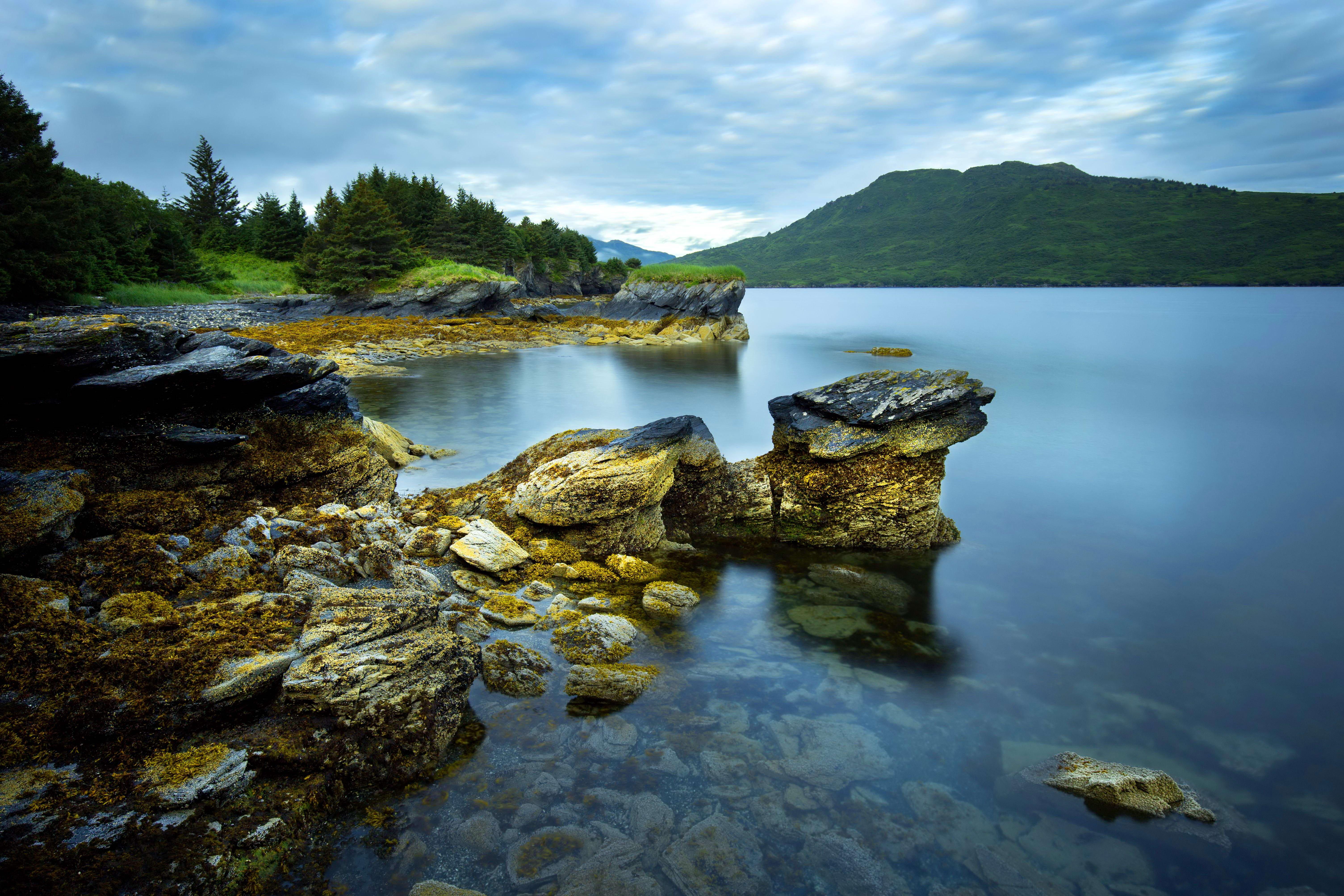 Free photograph; bay, landscape, wallpaper