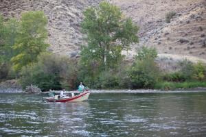 bateau, pêche, rivière