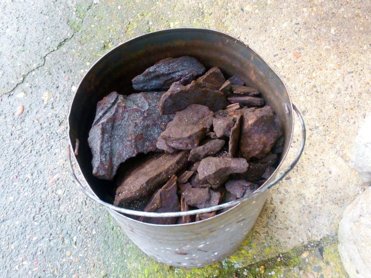 bucket, lignite, coal, charcoal, fossil, fuel