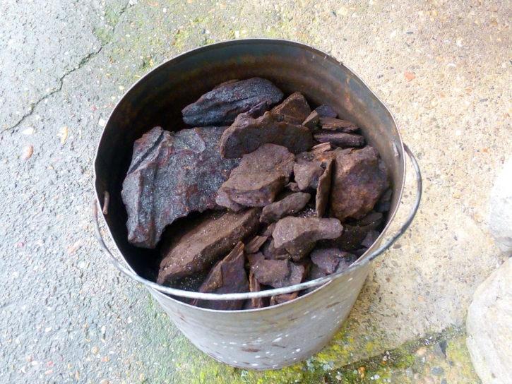 bucket, lignite, coal, charcoal, fossil, fuel