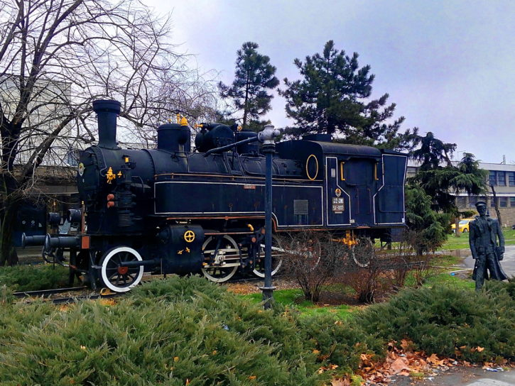 old, train, steam, engine