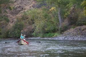recreatieve, boot, vissen, rivier
