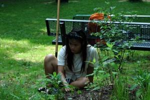 girl, student, volunteering, outdoor, classroom