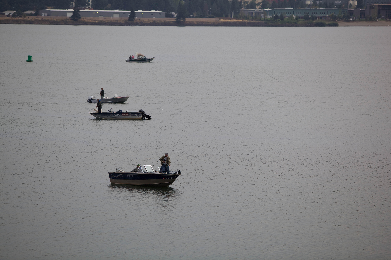 Free photograph; anglers, boats, fishing