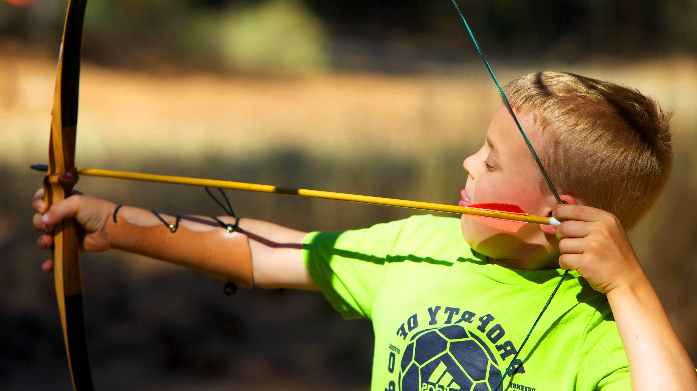 Free photograph; archery, sport, bow, arrow, practise