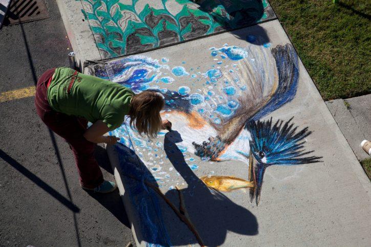 artist, drawing, chalk