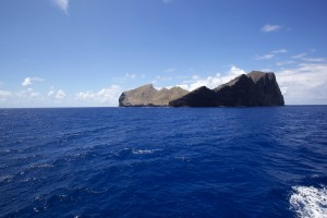 grande, roccia, isola, oceano