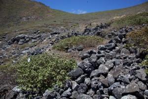 noir, rochers, collines, montagne, terrain