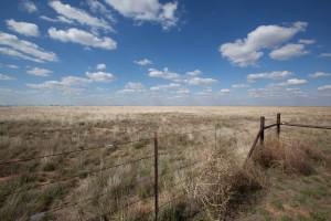 bleu, ciel, nuages, désert