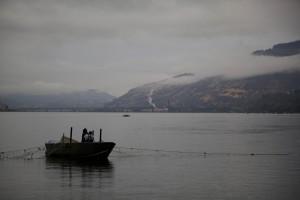 brodom, ribolov, gill, mreža