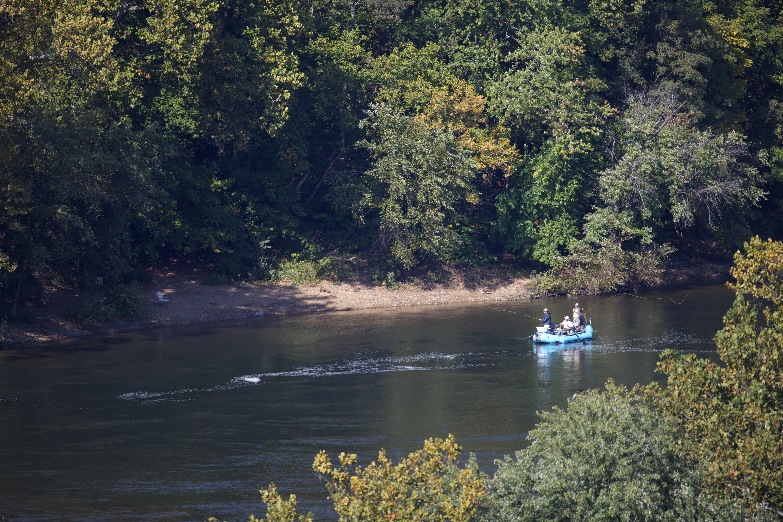 Free photograph; boat, river, recreation, fishermen, raft