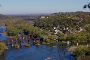 pont, bâtiments, installations, structures, rivière, automne