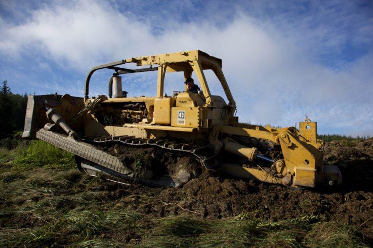 bulldozer, vehicle, excavator