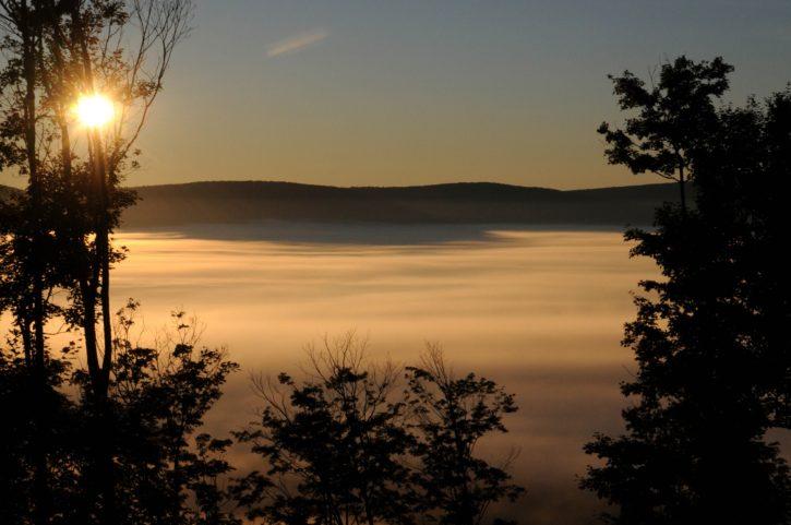 mist, Canaan, nalley, sunrise, fog