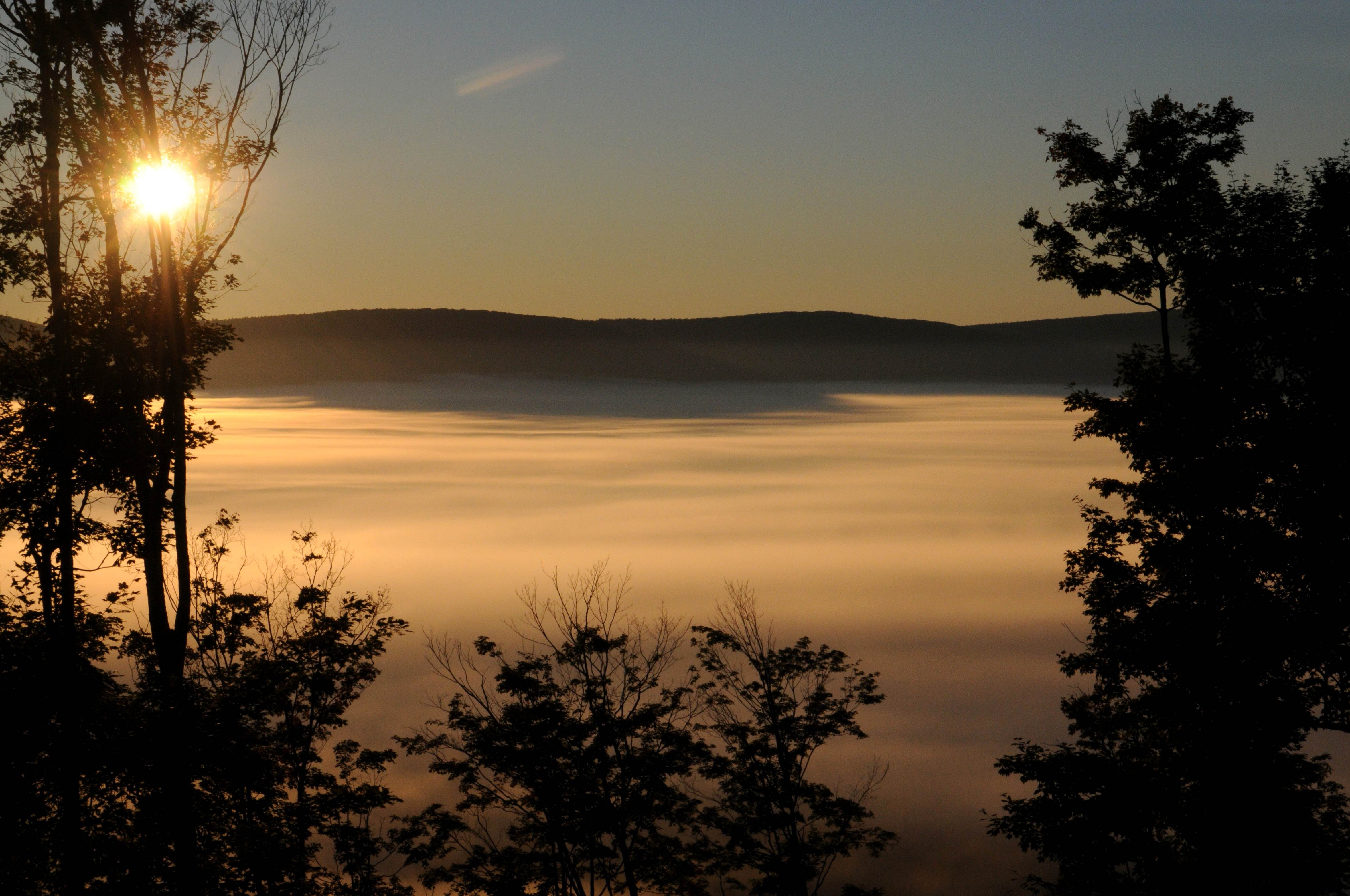 Free photograph; mist, Canaan, nalley, sunrise, fog