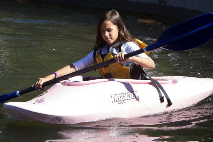 child, cute, girl, sport, kayak