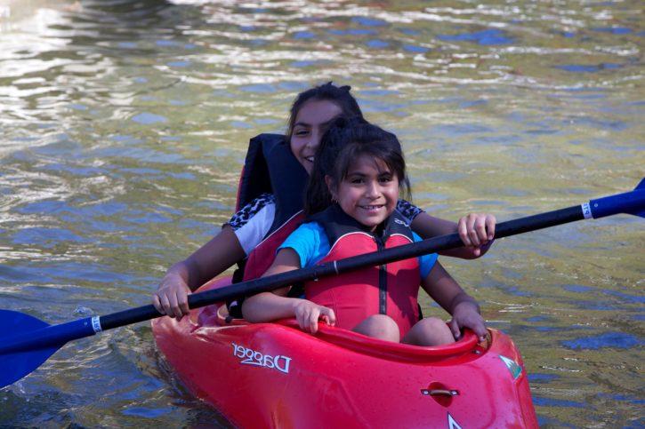 children, kayaking, young, sport