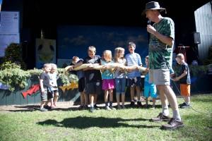 children, play, snake, outdoor