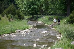 mężczyzn, rekreacji na świeżym powietrzu, rzeka,