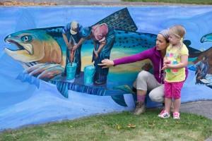 životního prostředí, vzdělání, matka, dítě, malování