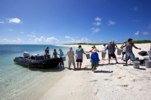 expedition, group, people, boat, summer time, beach, coast, island