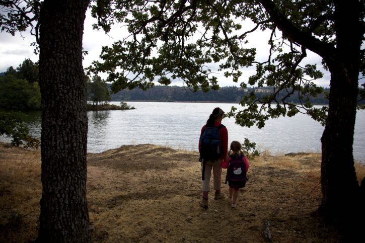 family, nature, forest, dust, river