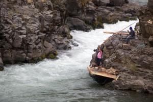 rapide, rivière, pêche