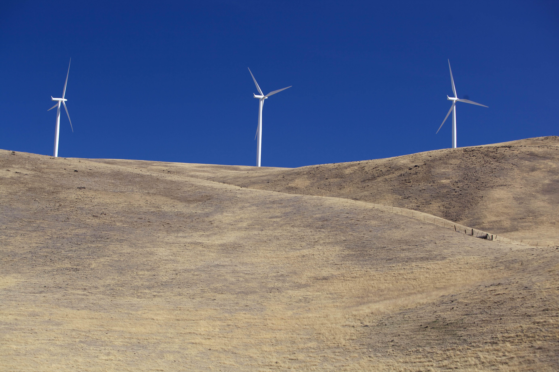 Free photograph; few, wind, turbines
