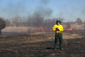 pompier, photographe, feu