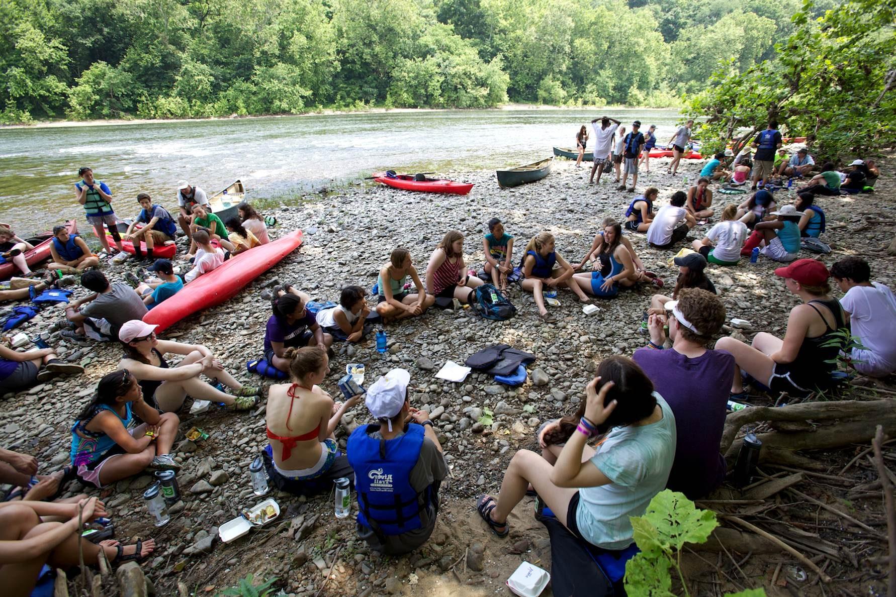 Free photograph; kayak, rest, stop, Potomac, river