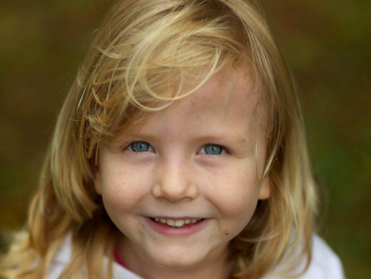 joli, mignon, jeune fille, enfant, portrait, visage