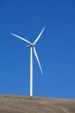 wind turbine, hill