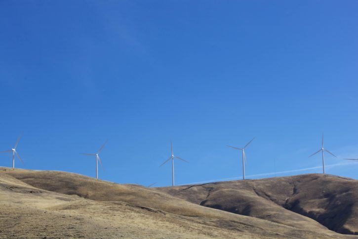 wind, turbines, create, energy, Columbia, river, basin