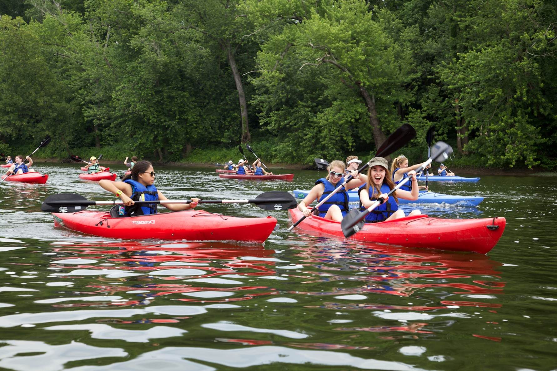 Free photograph; youth, enjoying, kayak, trip