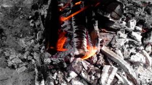 firebrand, flame, fire