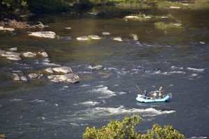 voler, bateau de pêche, rivière, ruisseau