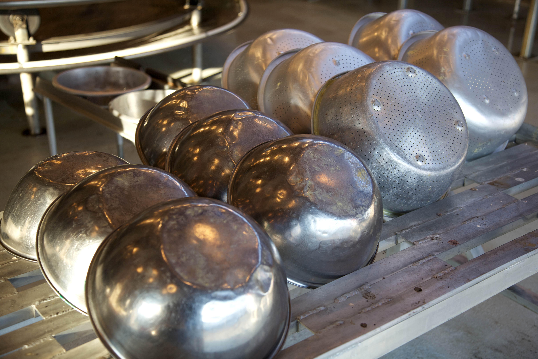 Free photograph; metal, bowls