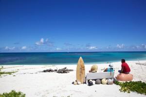 υπόλοιπο, καλοκαίρι, παραλία λευκής άμμου, ηλιόλουστη μέρα