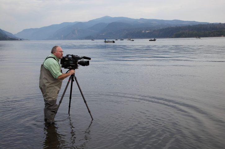摄影师, 录音, 自然, 展示