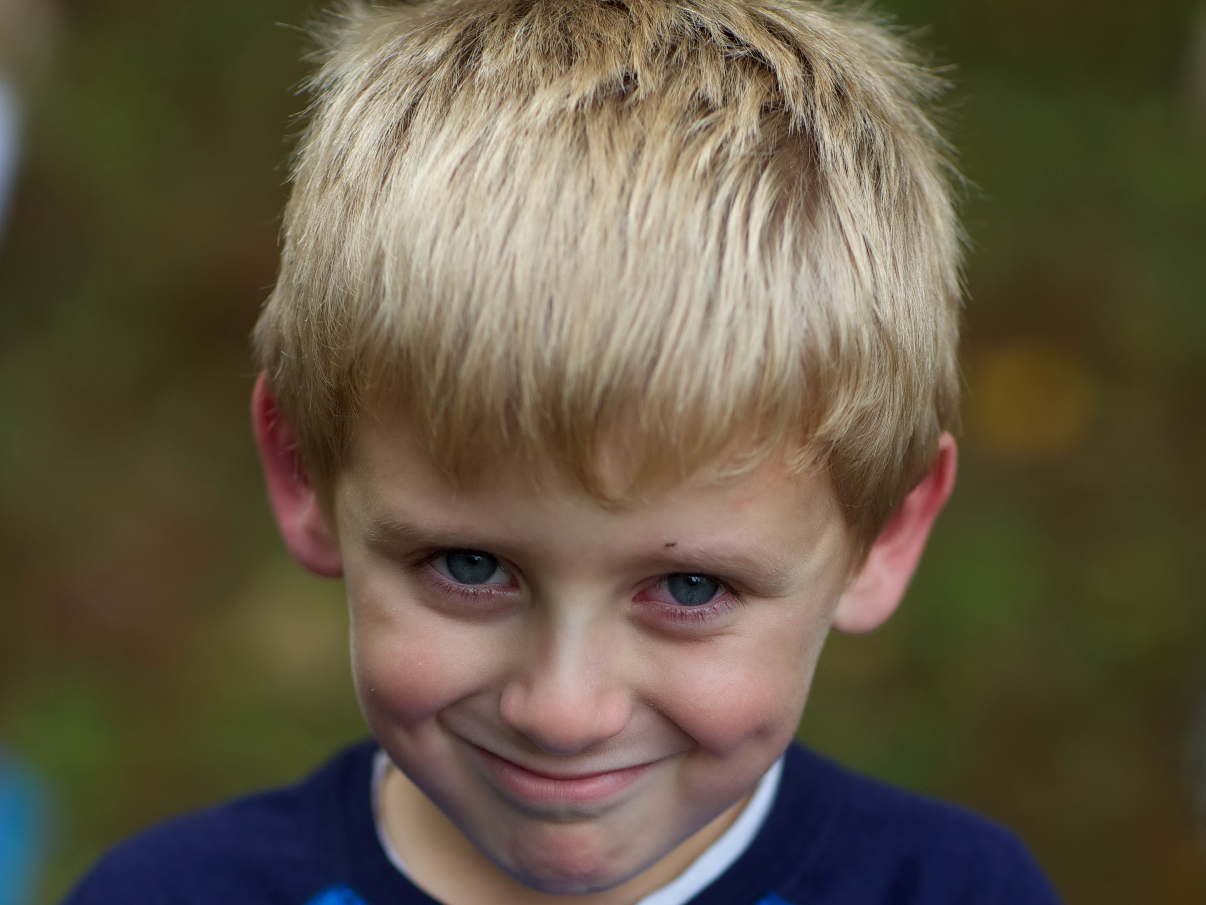 Free photograph; young, boy, face, blonde