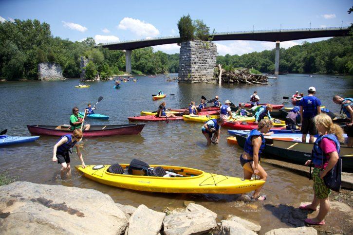 youth, kayak, trip, Potomac, river
