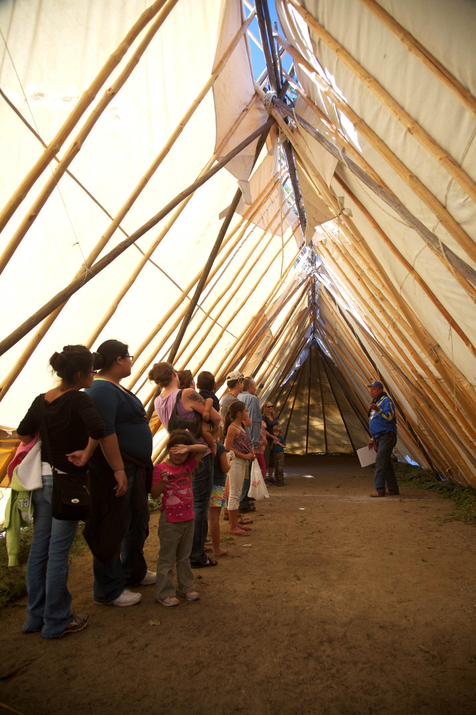 Free photograph; inside, long, tent