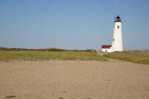 lighthouse, replica, beach