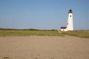 lighthouse, replica, beach