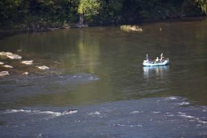 rafting, sport, mouche, pêche