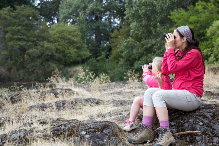 rekreace v přírodě, matka, dítě