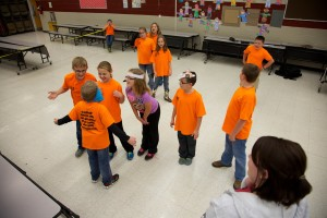 Studenten, Klassenzimmer, spiel, Kind