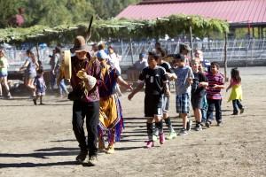 native, American, dancers, nature, vilage