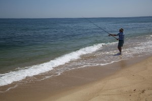 osean, beach, fishing