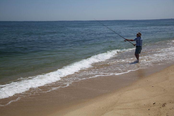 osean, beach, fishing